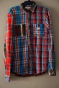 49e8a940 Denim & Supply Ralph Lauren Men's Ward 100% Cotton Patchwork Plaid ...