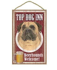 Top Dog Inn Beerhounds Bull Mastiff Bar Sign Plaque dog ...