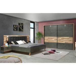 Schlafzimmer 2 Ricciano Komplett Set In Stabeiche Betonoptik Und Grau 4 Teilig Ebay