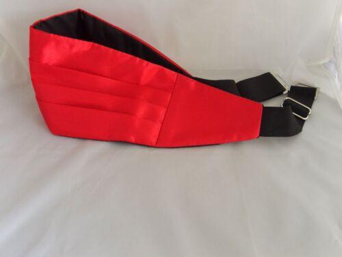 FREE Pocket Hankie /<Tops Deal/> Page Boy-BOYS Red Polyester Children Cummerbund