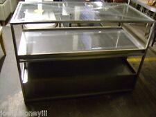 Retail Glass Top Shelving Display 3 Shelf Stand