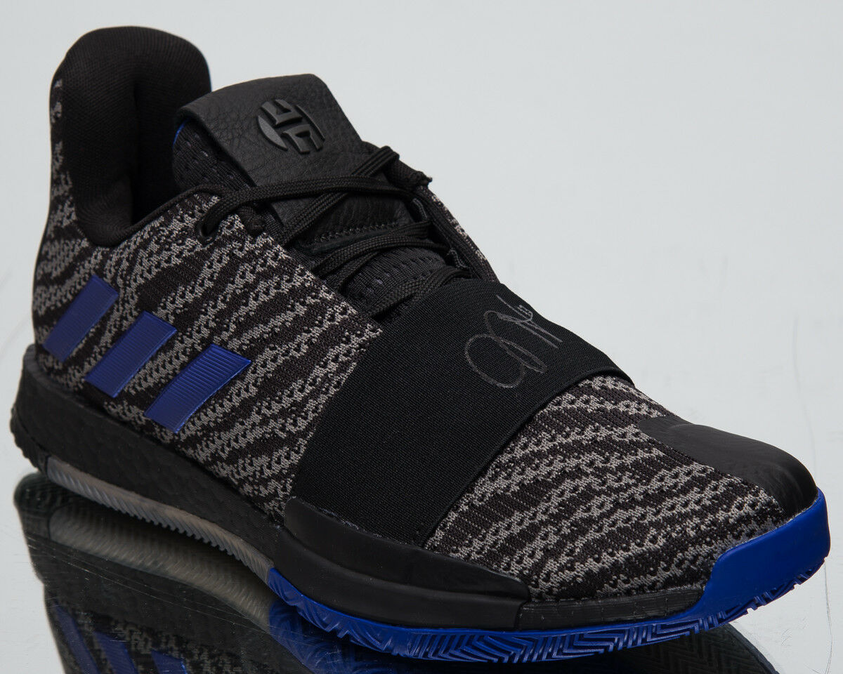 Adidas Harden Vol.3 New Men's Basketball shoes Low Core Black Active bluee G26811