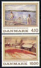 Denmark 1988 Art/Paintings/Artists/Swimming/Landscape 2v set (n30042)