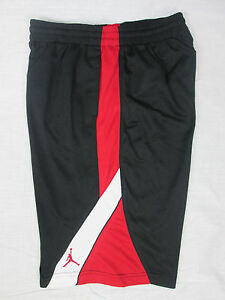 2b8632468695e1 NWT Nike Youth Boy s Air Jordan Jumpman Basketball Shorts M L Black ...