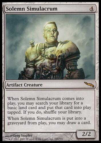 SIMULACRO SOLENNE MRD MAGIC MTG SOLEMN SIMULACRUM EXC