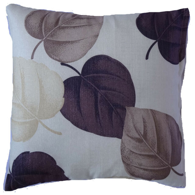New Brown Purple Leaf Decorative Throw Sofa Pillow Case Cushion Cover Square