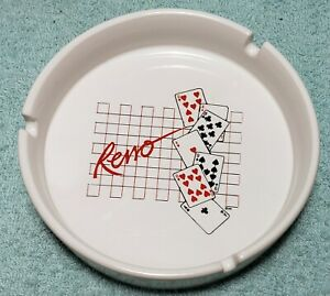 "5"" Vintage Ceramic Reno Nevada Ashtray in Excellent Condition"