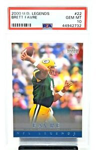 2000 Upper Deck Packers Legends BRETT FAVRE Football Card PSA 10 GEM MINT Pop 5