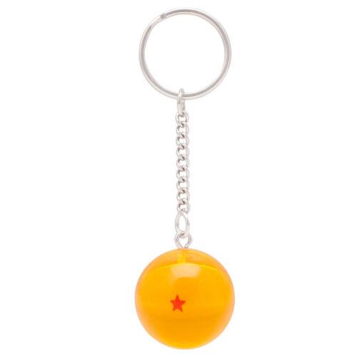 1SET Anime Dragon Ball Cosplay Crystal Ball Stars Keychain Keyring Pendants