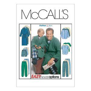 Schlafanzug /& Bademantel Kombi Vater /& Sohn McCalls Schnittmuster M6236