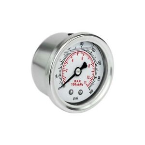 Fuel pressure gauge psi Manometro universale pressione benzina glicerina bar