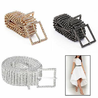 Western Waist Belt Crystal Rhinestone Studded Leather Belt Accessories