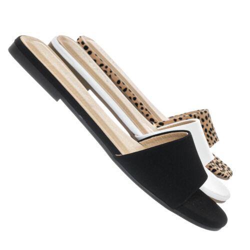Fair Flat Open Toe Slide Sandals Women One Band Slipper