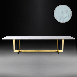 Image Is Loading Hollywood Regency Glamour Chic Modern Marble Dining Table