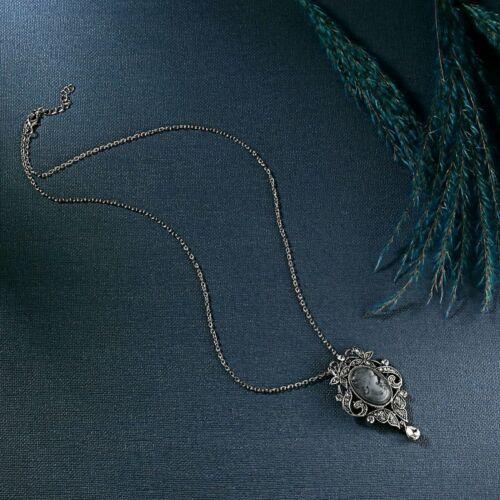 Hot Vintage Camée Strass Collier Pendentif Argent Chaîne Femmes Bijoux vacances