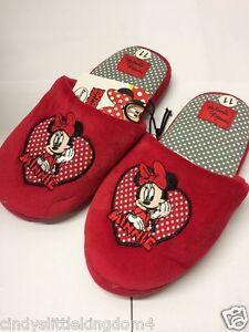 Nuevo Disney Minnie Mouse Niñas Rojas Resbalón en Zapatillas Zapatos