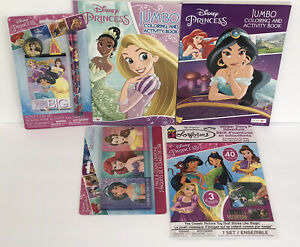 5pc-Disney-Princess-Jumbo-Coloring-Activity-Books-Crayons-Sticker-Story-Jasmin