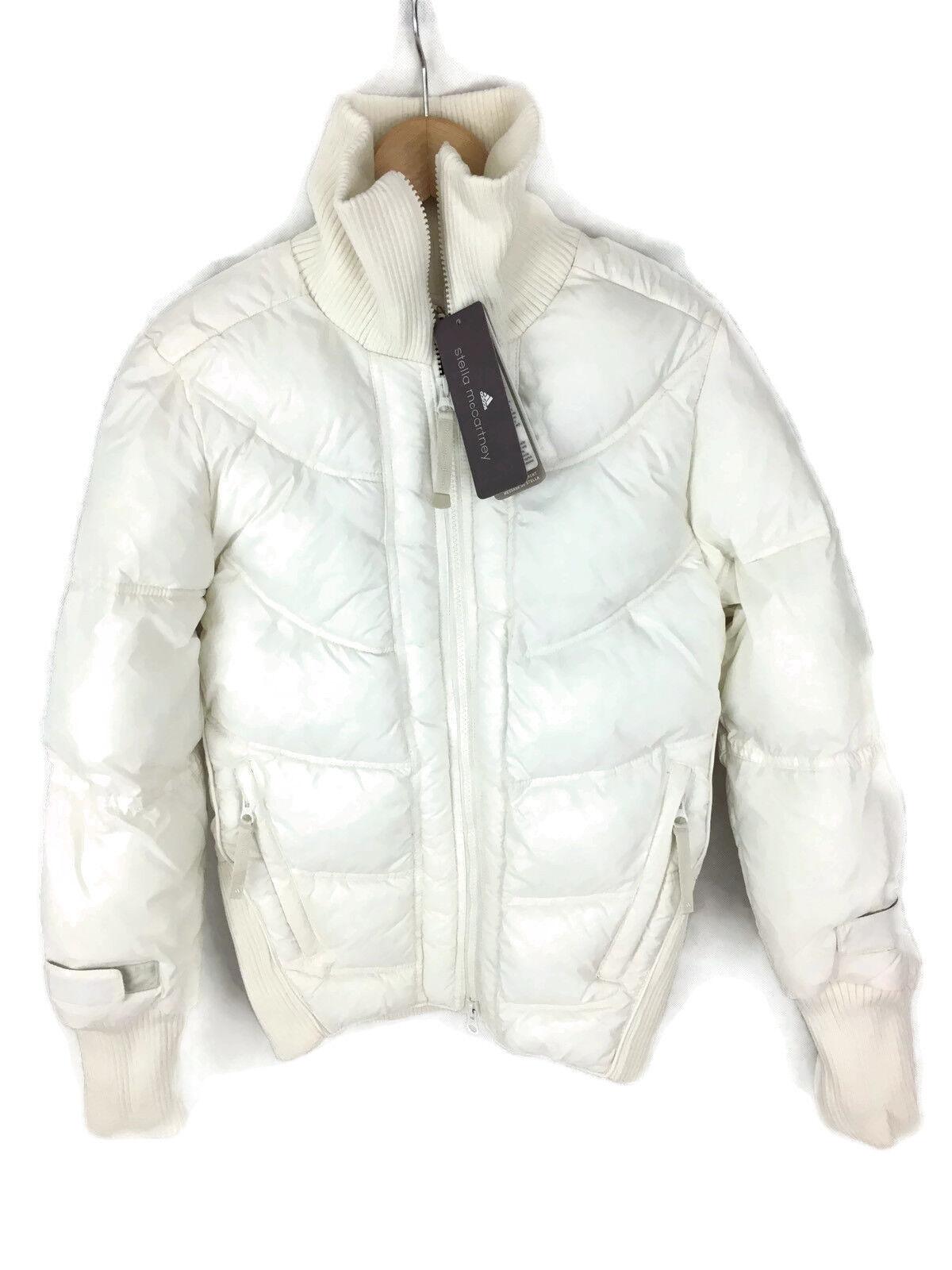 Adidas Stella McCochetney Mujeres Chaqueta  Acolchada-blancoo-UK 8 EU 34   Nuevo  Sin impuestos