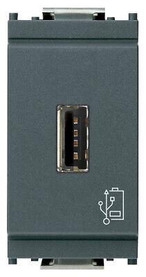 carica cellulari VIMAR EIKON 20292.B Unità alimentazione USB 5V 1,5A 1M bianco