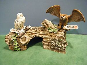 SCHLEICH-SNOWY-OWL-14671-amp-EAGLE-OWL-14738-NEW-IN-FACTORY-PLASTIC