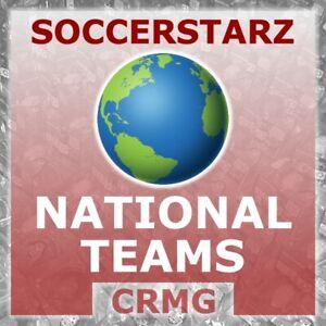 CRMG SoccerStarz INTERNATIONAL TEAMS BRAZIL SCOTLAND BELGIUM (like MicroStars)