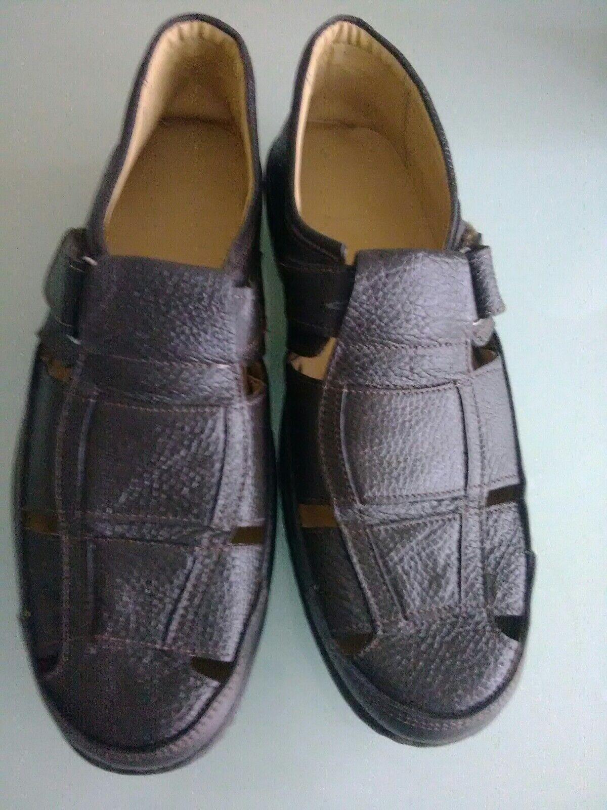 Men's Brown Leather Sandal/ Shoes, Size 8