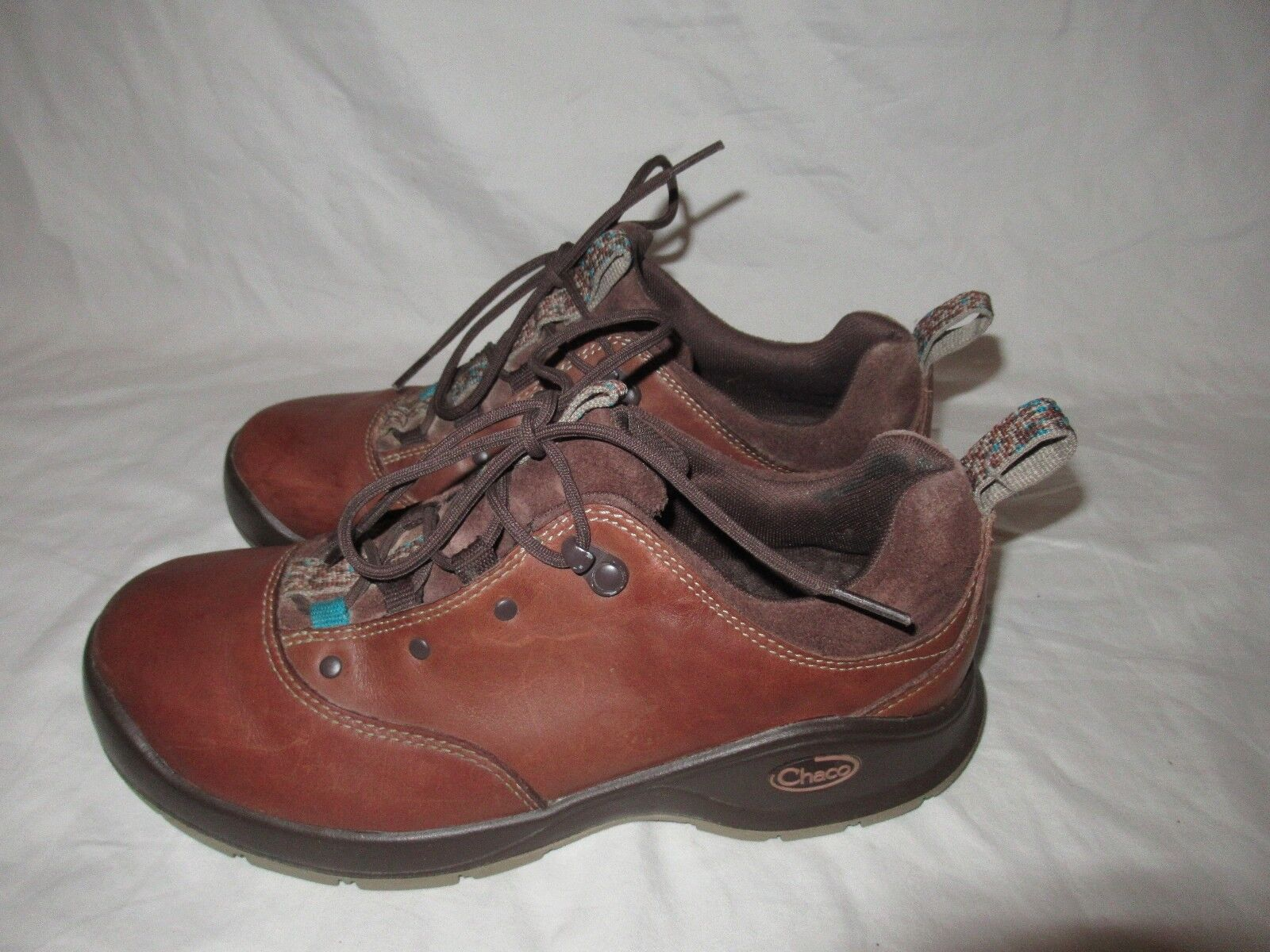 Chaco Tarvia Chaco Low Hiking Shoes Women Oxford Brown Leather  Size 8 GUC