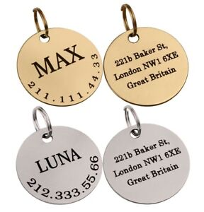 Personalized-Dog-ID-Tag-Custom-Engraved-Brass-Steel-Round-Double-Sided-Pet-Name