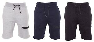 Men-039-s-Plain-Gym-Fleece-Shorts-Thigh-Zip-Pocket-Lounge-Jersey-Shorts-Jogging