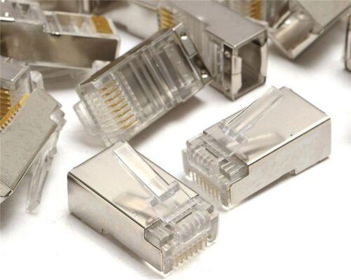 10 Pcs RJ45 8P8C Network Cable Shielded Plug CAT5 CAT5E Connector LAN