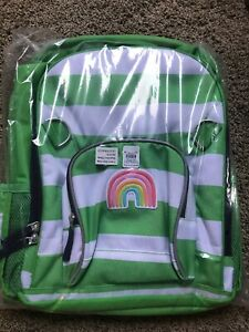 Pottery Barn Kids Fairfax Large Green White Stripe Rainbow