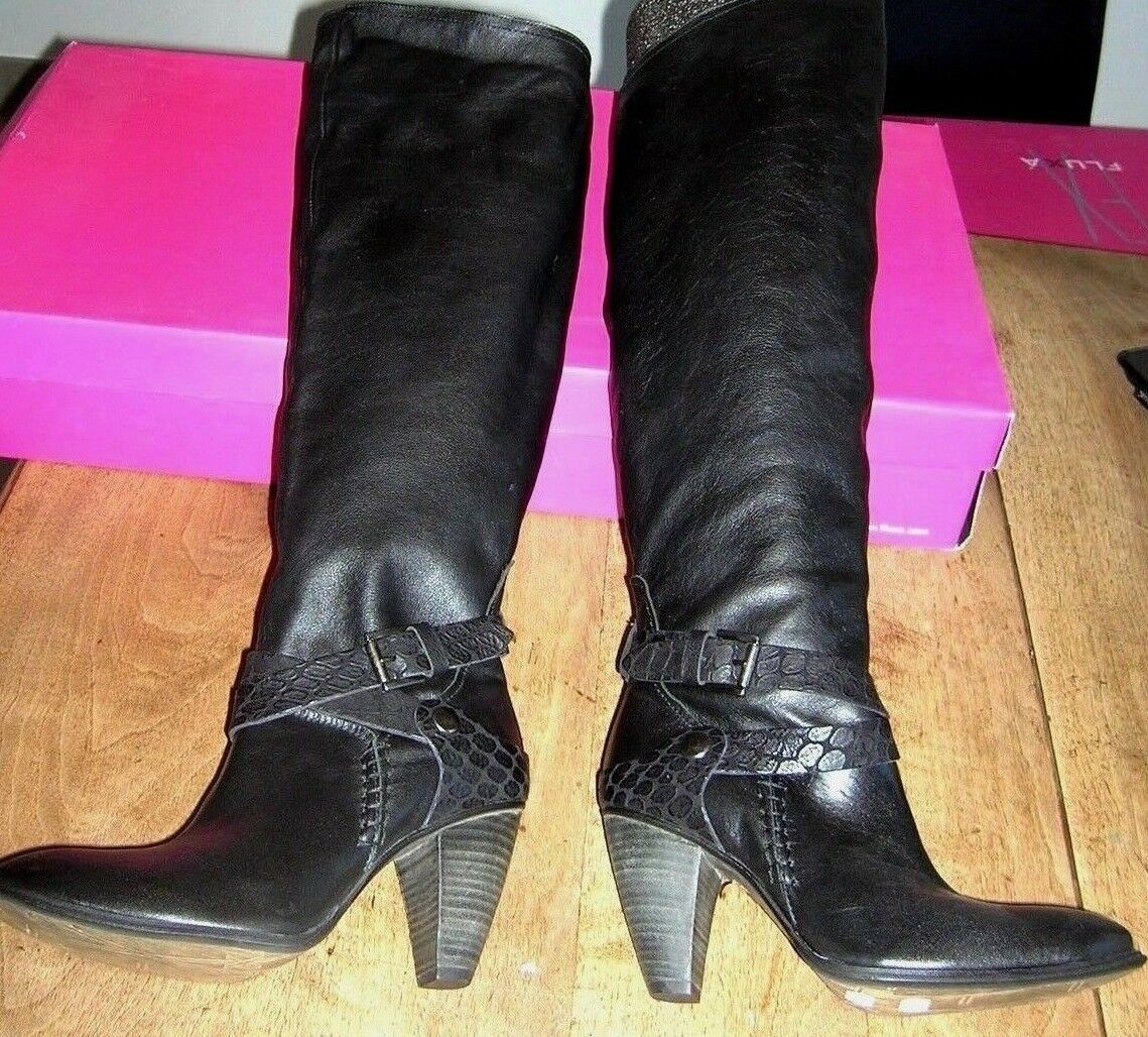 botas cuir negro 9cm NEUVES Valeur 229E Talon 9cm negro Pointures 37,39 27260b