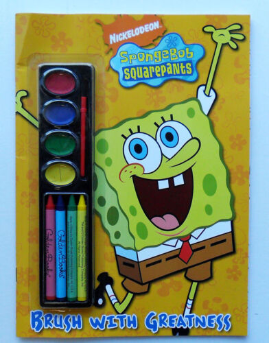 NEW Sponge Bob Square Pants Brush wIth Greatness Color Book