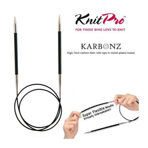 KnitPro Karbonz Fixed Circular Knitting Needles 100cm