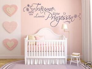 Details zu Mit NAME Wandtattoo Kinderzimmer Baby Süße träume kleine  Prinzessin 72023