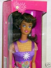 NEW 1996 Mattel Flower Fun African American Brunette Barbie Mint Sealed NRFB NIB