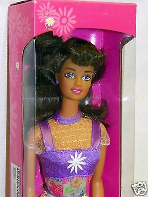 **NIB BARBIE DOLL 1996 FLOWER FUN TERESA BRUNETTE 16065