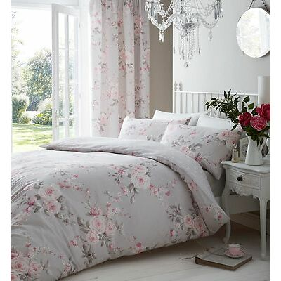 Canterbury Grey Duvet Quilt Cover Set Bedding, Bed Linen By Catherine Lansfield