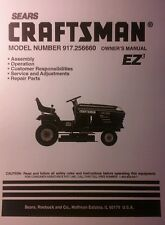 Sears Craftsman 19.0 HP Lawn Riding Tractor & 46 Mower Owner & Parts Manual 56pg