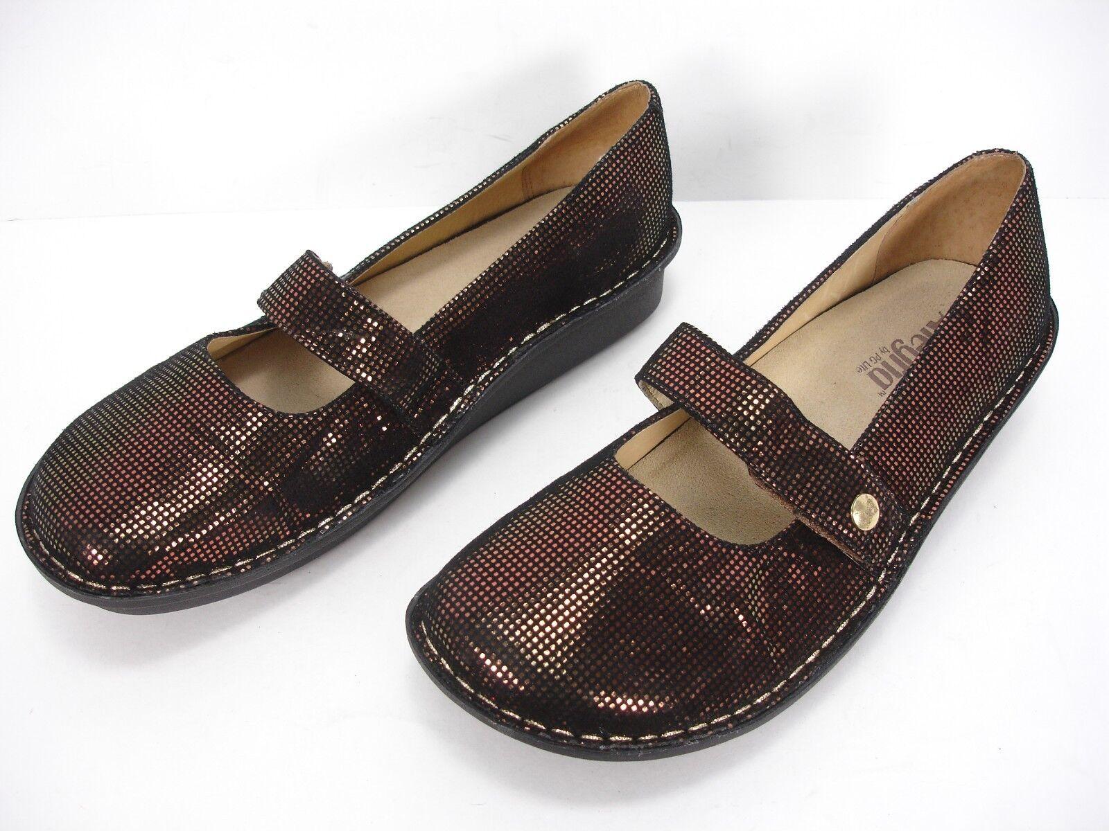 Alegria PG LITE Feliz FEL-348 bronze Prisme Cuir Mary Jane Chaussures femmes 41 Comme neuf