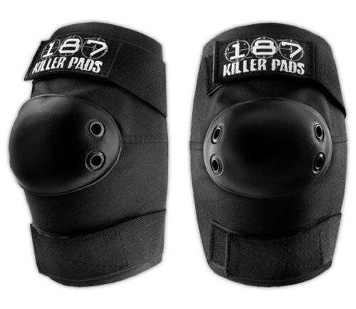 187 Killer Pads Skateboard Elbow Pads BLACK MEDIUM
