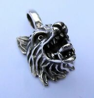 Sterling Silver (925) Wolf Pendant Brand
