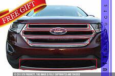 GTG 2015 - 2017 Ford Edge 4PC Gloss Black Overlay Combo Billet Grille Grill Kit