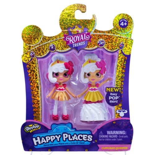 Shopkins Happy Places Royal Trends Cupcake Queenie Lil/' Shoppie Doll New!