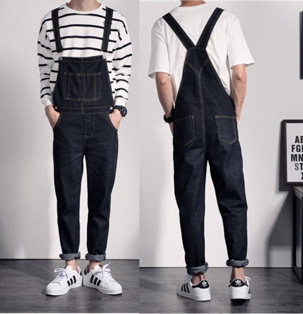 Mens Denim Overalls,Mens Big /& Tall Original Denim Bib Suspenders Pants Ripped Jeans Overalls