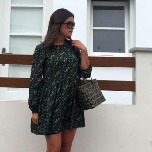 SOLD OUT ZARA GREEN PAISLEY GREEN DRESS BLOGGERS SIZE M MEDIUM