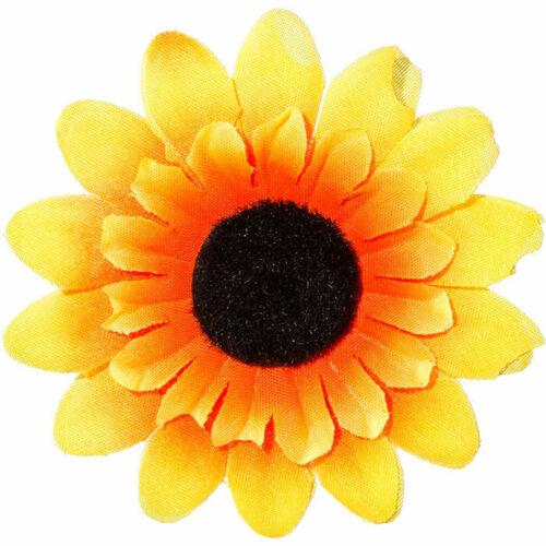 Ø 5 cm NEU Sonnenblume mit Anstecknadel