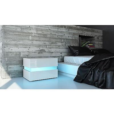 "High Gloss Modern Nightstand Bedside Table ""Flow"""