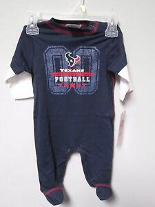 super popular 5ac26 b31e7 Details about Gerber Boy NFL Houston Texans Football Outfit Size 3-6M BABY  CLOTHES GIFT