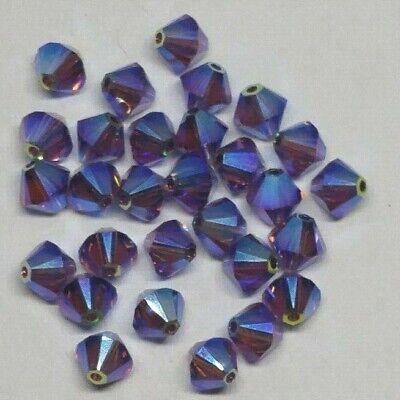 12pc Swarovski Crystal Amethyst AB2X 6mm Bicone 5328 Beads; Purple; SALE PRICE